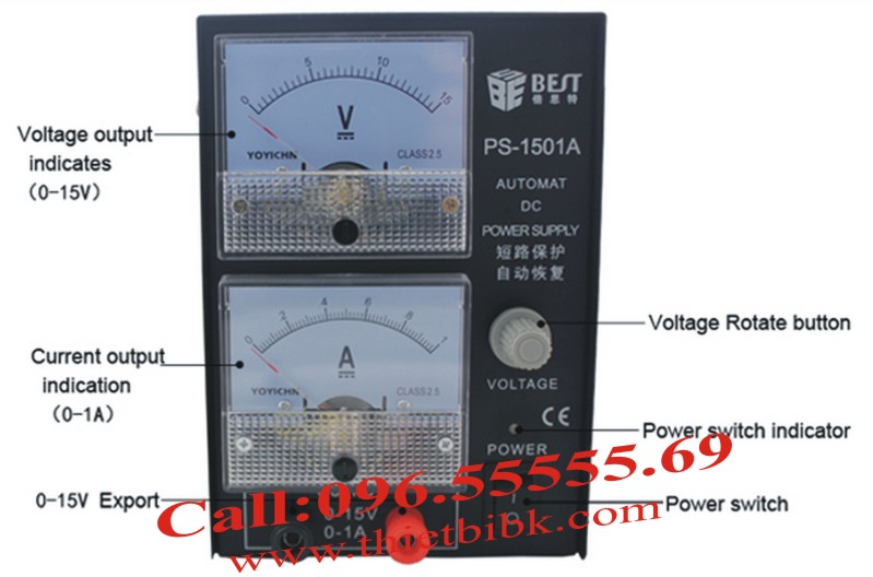 Bo cap nguon BEST-1501A Power supply Stable Voltage DC