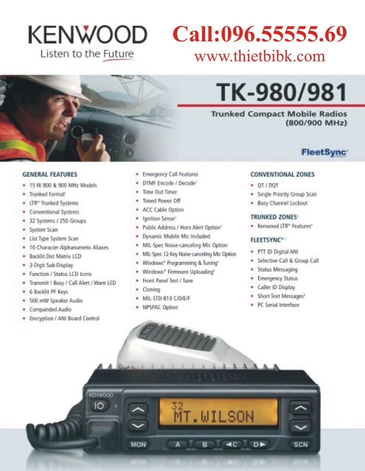 Bộ đàm cố định Kenwood TK-980 dùng trong giao thông vận tải