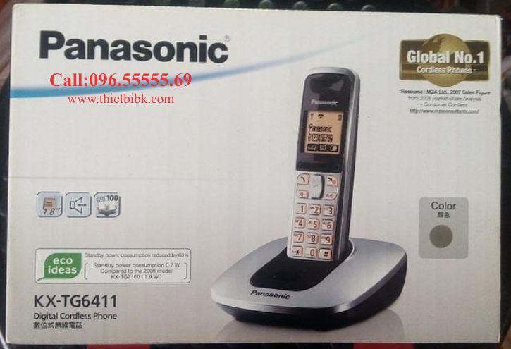 Điện thoại Panasonic KX-TG6411 dùng cho văn phòng công ty
