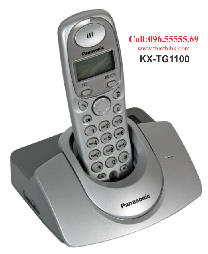 Điện thoại kéo dài Panasonic KX-TG1100 dùng cho gia đình