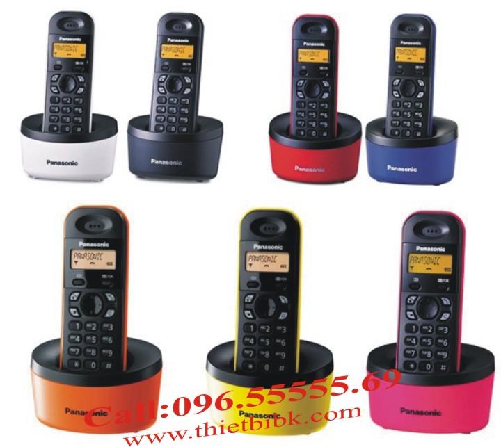 Điện thoại Panasonic KX-TG1311 có nhiều mầu sắc cho bạn lựa chọn