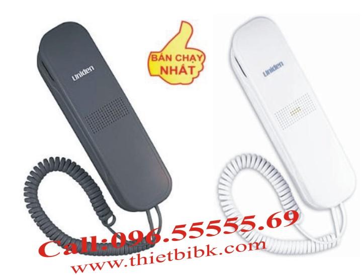Điện thoại treo tường Uniden AS 7101 có hai mầu đen trắng