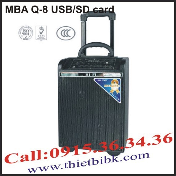 Máy trợ giảng Professional Audio MBA Q-8 USB/SD card