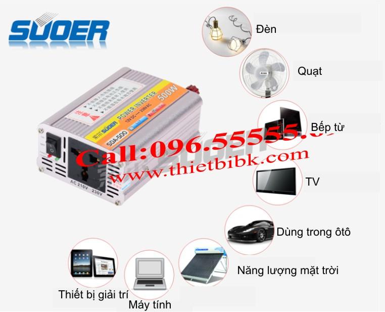 Máy đổi điện không sạc SUOER SDA-500