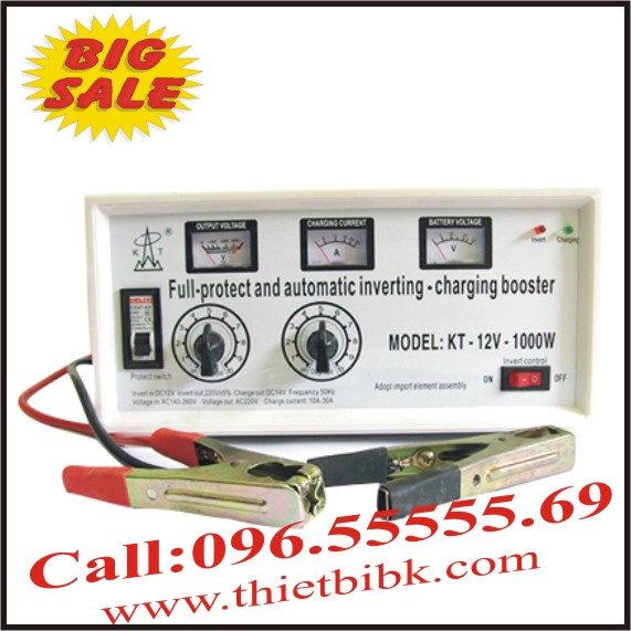 Máy đổi điện và sạc ắc quy KETA KT-12V-1000W