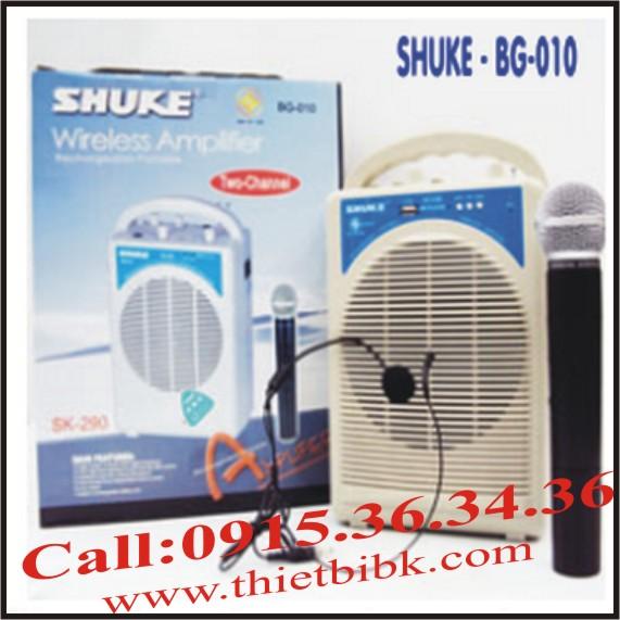 Máy trợ giảng không dây Shuke BG-010 (3 Micro, có USB)