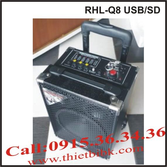 máy trợ giảng không dây công suất lớn RHL-Q8 USB.SD