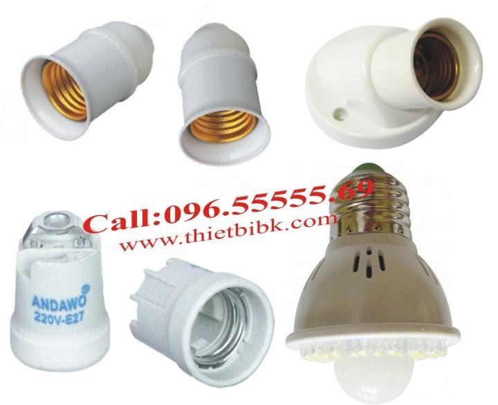 Đèn cảm ứng chuyển động Kawa SS61 lắp đặt vơi đui đèn soáy E27