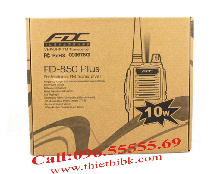 Bộ đàm cầm tay FEIDAXIN FD-850Plus - 10W box
