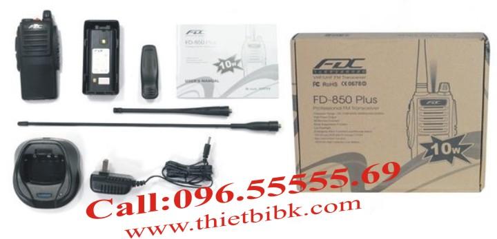 Bộ đàm cầm tay FEIDAXIN FD-850Plus - 10W fullbox