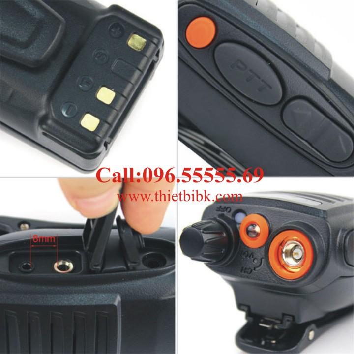 Bộ đàm cầm tay FEIDAXIN FD-850Plus -5W chống bụi, chống nước