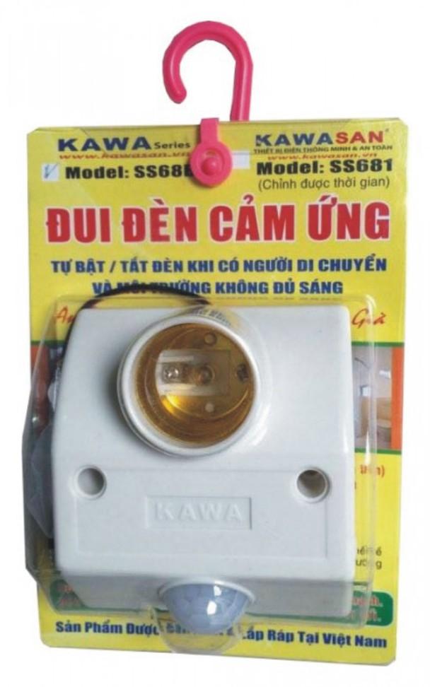 Đui đèn cảm ứng gắn tường Kawa SS681 tự bật tắt đèn khi có người di chuyển