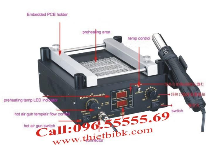 Các bộ phận Máy hàn khò nướng Chipset KADA 853A