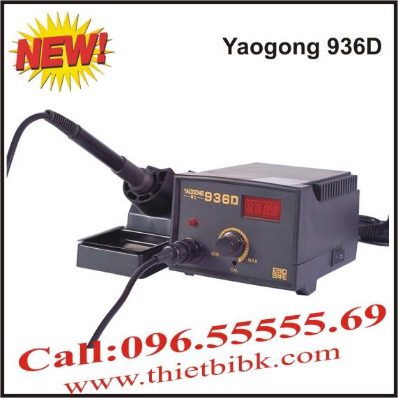 Máy hàn thiếc Yaogong 936D có màn hình hiển thị nhiệt độ