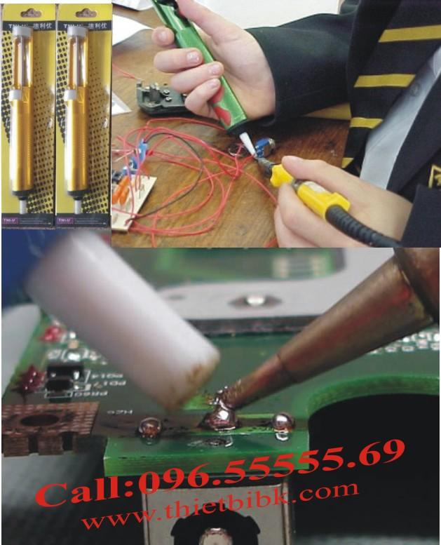 Su dung Ong hut thiec Solder Vacuum M 135
