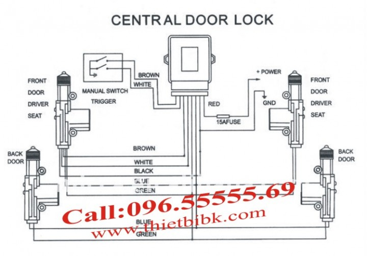 Chuot cua o to Dieu khien cua o to Car Door Lock System so do1