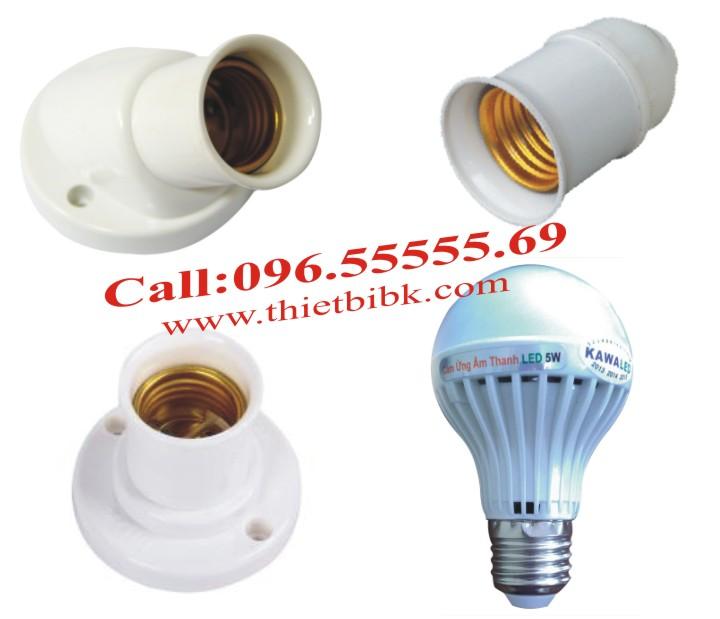 Đèn led cảm ứng âm thanh Kawa SB03 3W lắp đặt với đui soáy E27