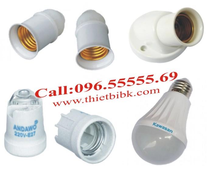 Đèn led vi sóng cảm ứng chuyển động Kawa RS81 lắp đặt với đui đèn chuẩn E27