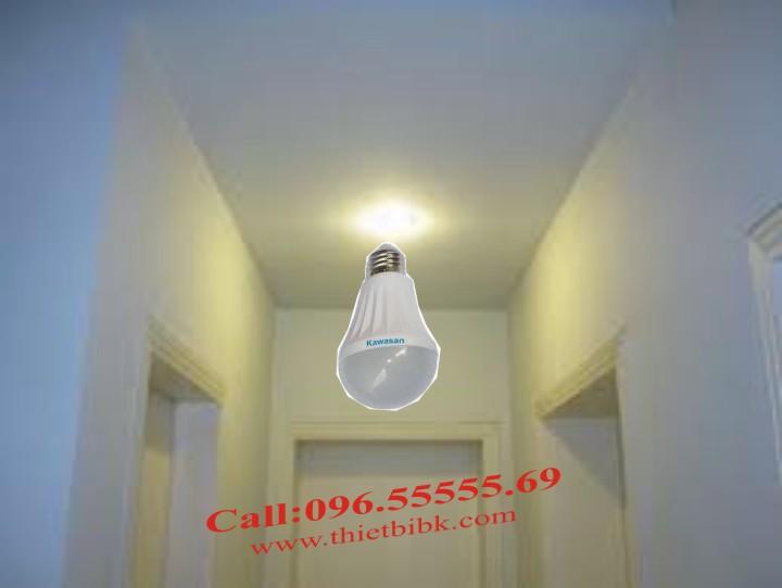 Đèn led vi sóng cảm ứng chuyển động Kawa RS81 lắp hành lang, cầu thang, nhà vệ sinh