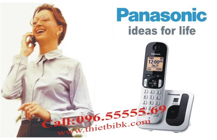 Điện thoại kéo dài Panasonic KX-TGC210 dùng cho văn phòng, gia đình