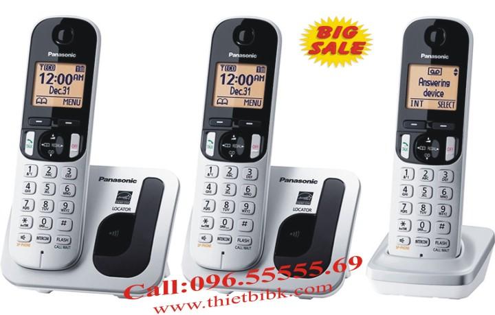Điện thoại kéo dài Panasonic KX-TGC212 kết hợp với KX-TGC210 mở rộng 6 máy con