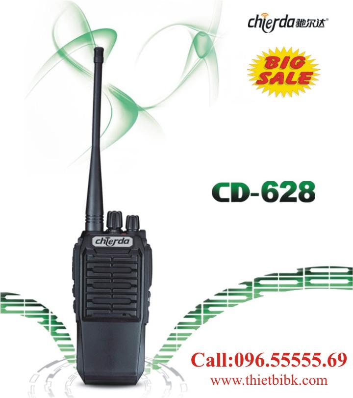 Bộ đàm Chierda CD-628 8W Long Range chống nước, cự ly truyền dẫn 5km