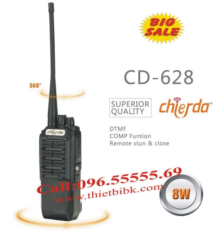 Bộ đàm Chierda CD-628 8W Long Range dùng cho khu công nghiệp, cảng biể