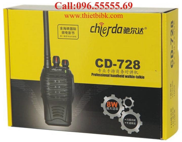 Bộ đàm Chierda CD-728 Waterproof 8Watt box