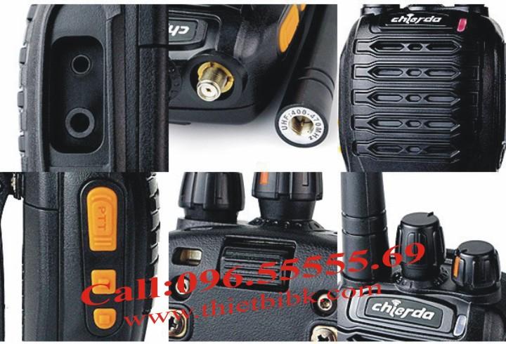 Bộ đàm Chierda CD-728 Waterproof 8Watt có thiết kế tinh tế