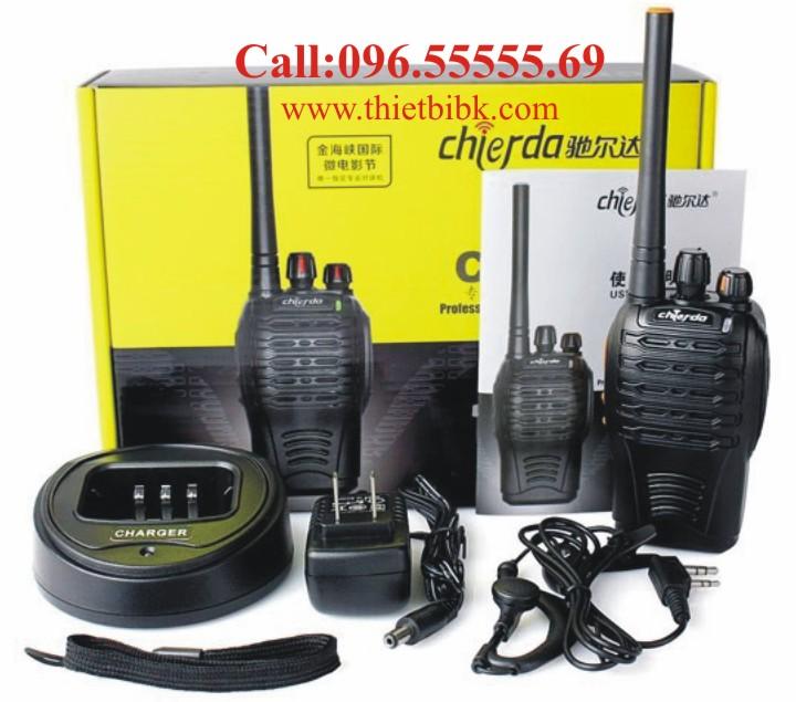 Bộ đàm Chierda CD-728 Waterproof 8Watt sử dụng cho công việc liên lạc điều hành sản xuất