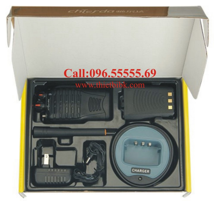 Bộ đàm Chierda CD-728 Waterproof 8Watt fullbox
