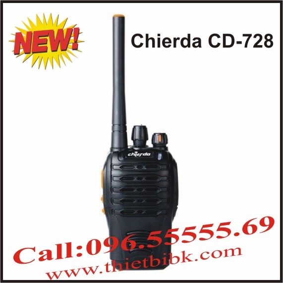 Bộ đàm Chierda CD-728 Waterproof 8Watt