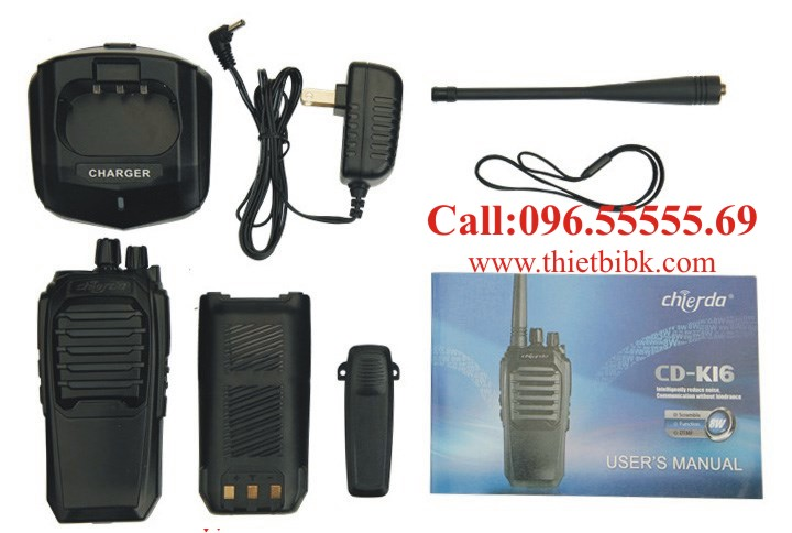 Bộ đàm Chierda CD-K16 8Watt High Power và phụ kiện chính hãng