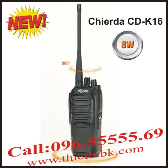 Bộ đàm Chierda CD-K16 8Watt High Power
