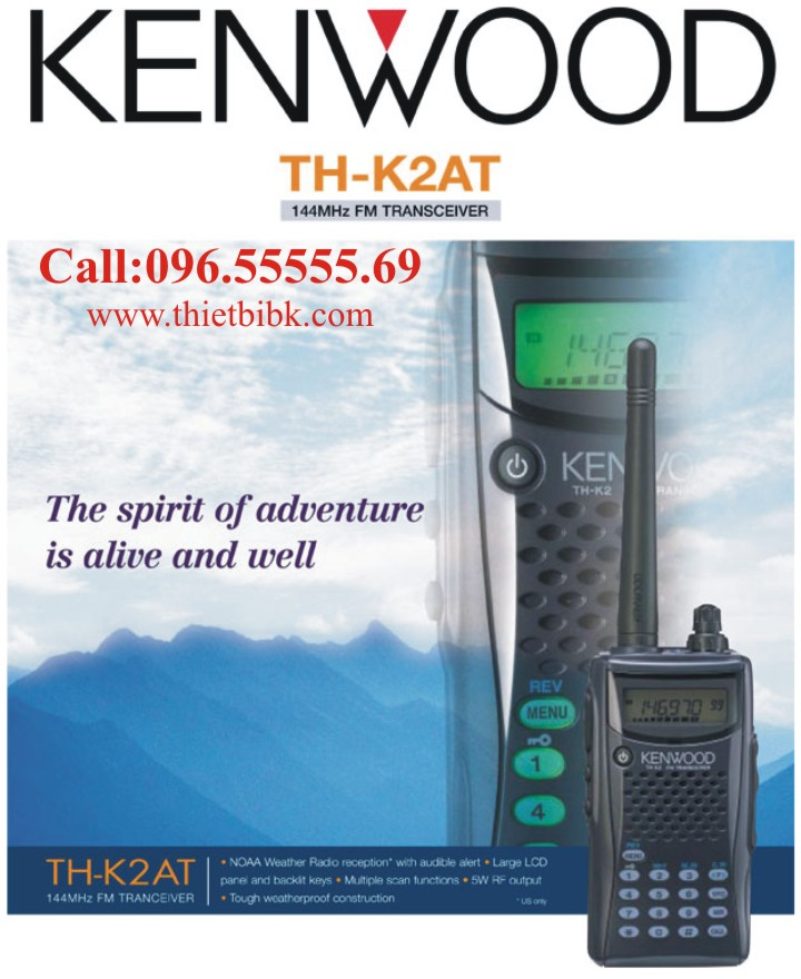 Bộ đàm Kenwood TH-K2AT VHF