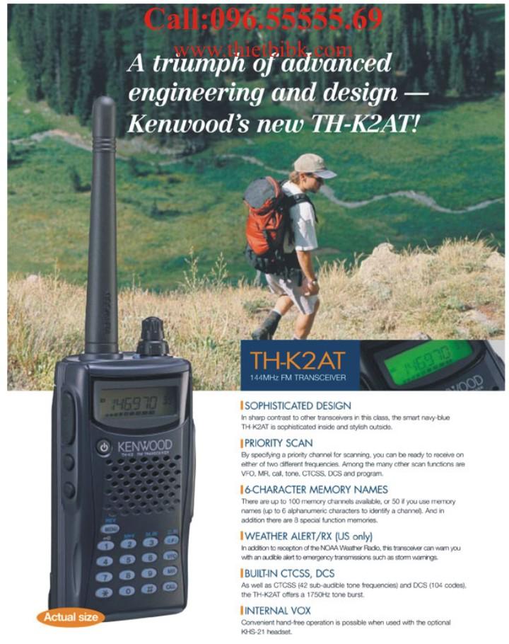 Bộ đàm Kenwood TH-K2AT VHF liên lạc 3km