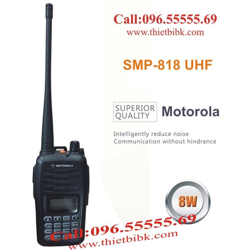 Bộ đàm Motorola SMP-818 UHF 8W dùng cho công trường xây dựng