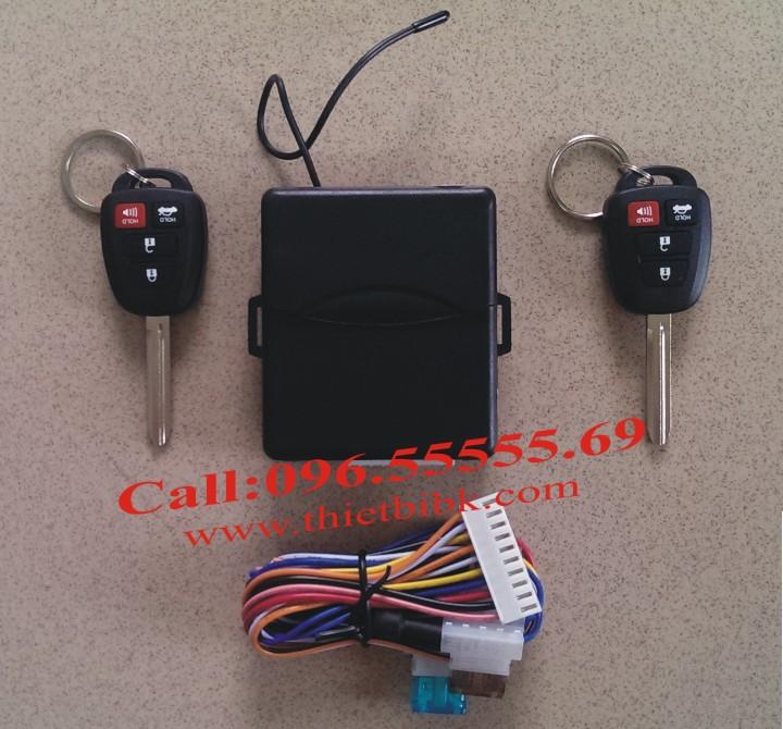 Bộ điều khiển khóa cửa ô tô Car Remote Control Central Door Lock 2 remote chìa khóa thẳng