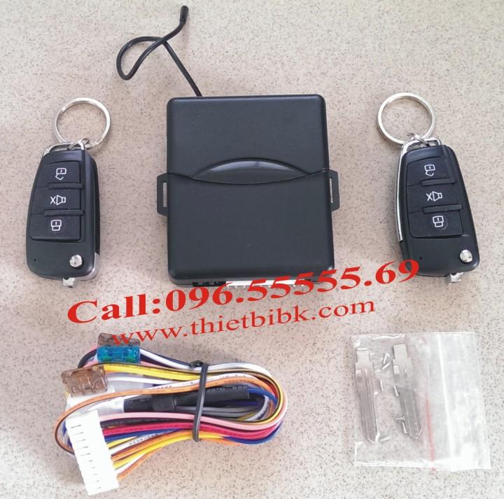Bộ điều khiển khóa cửa ô tô Car Remote Control Central Door Lock với 2 remote chìa khóa gập