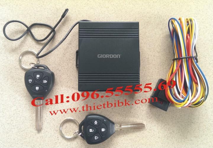Bộ điều khiển khóa cửa ô tô Car Remote Control Central Door Lock với 2 remote chìa khóa thẳng