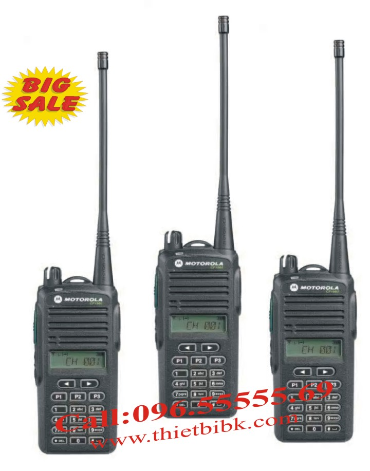 Máy bộ đàm Motorola CP1660 99 kênh dải tần UHF hoặc VHF