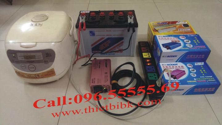 Máy kích điện SUOER KFA 1000W Power inverter chạy nồi cơm điện, máy tính, đèn , quạt..