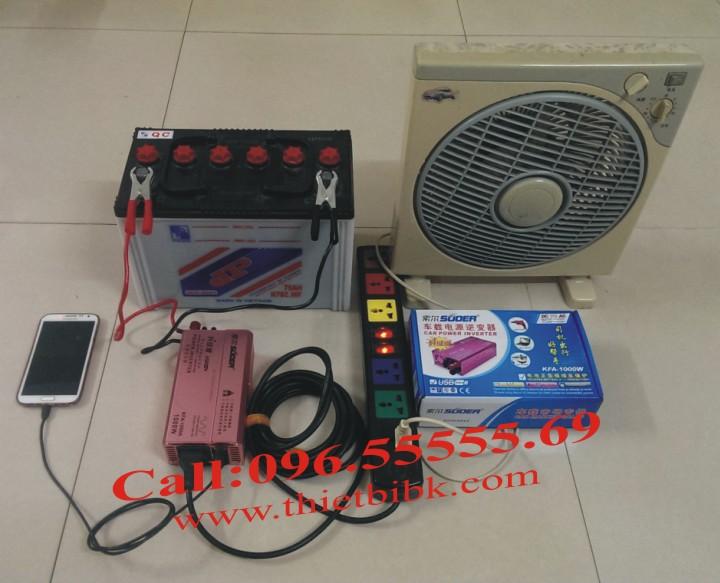 Máy kích điện SUOER KFA 1000W Power inverter dùng cho gia đình, cửa hàng