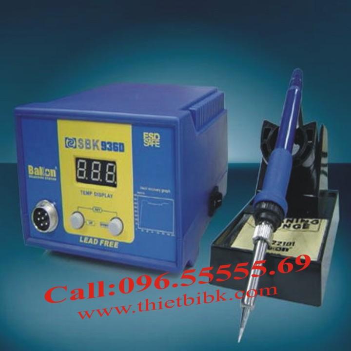 Máy hàn thiếc điều chỉnh nhiệt độ Bakon SBK 936D sử dụng công nghệ kỹ thuật số