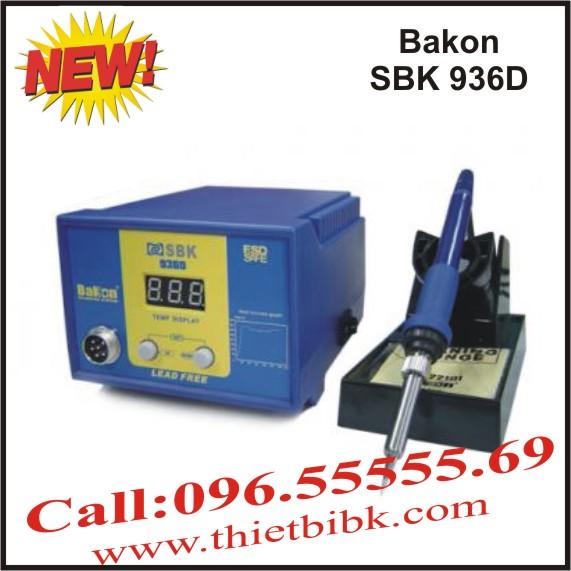 Máy hàn thiếc điều chỉnh nhiệt độ Bakon SBK 936D