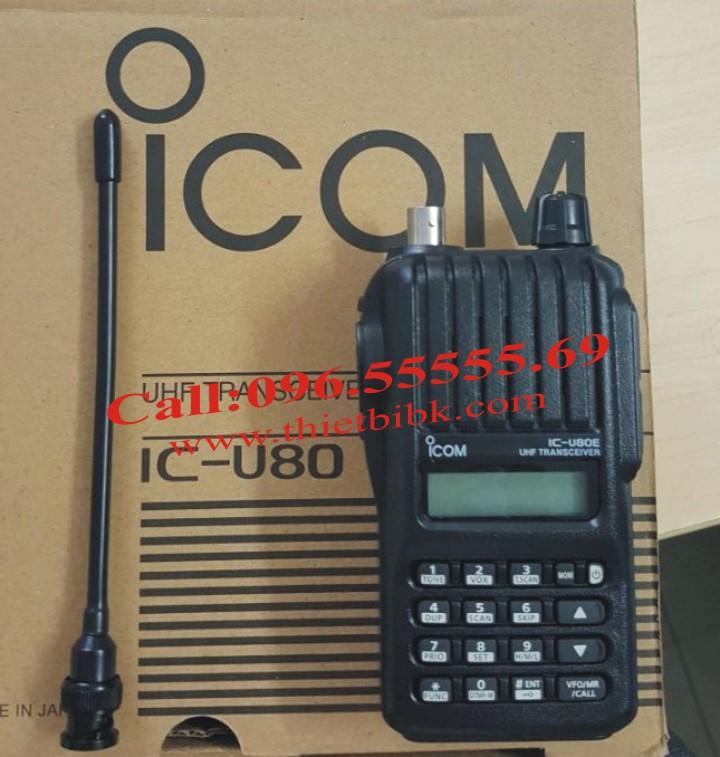 Máy bộ đàm ICOM IC-U80 UHF dùng cho khu du lịch sinh thái