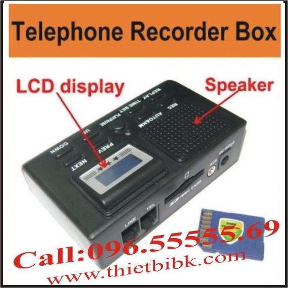 Box ghi âm điện thoại dùng thẻ nhớ Zibosoft TR70CX dùng cho doanh nghiệp