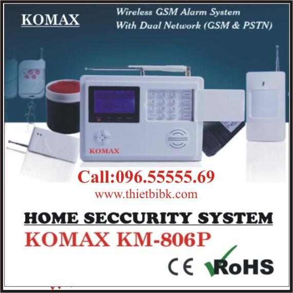 Thiết bị báo động không dây KOMAX KM-806P