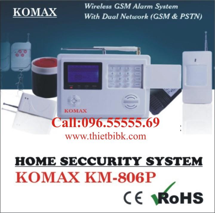 Thiết bị báo động không dây KOMAX KM-806P dùng cho gia đình
