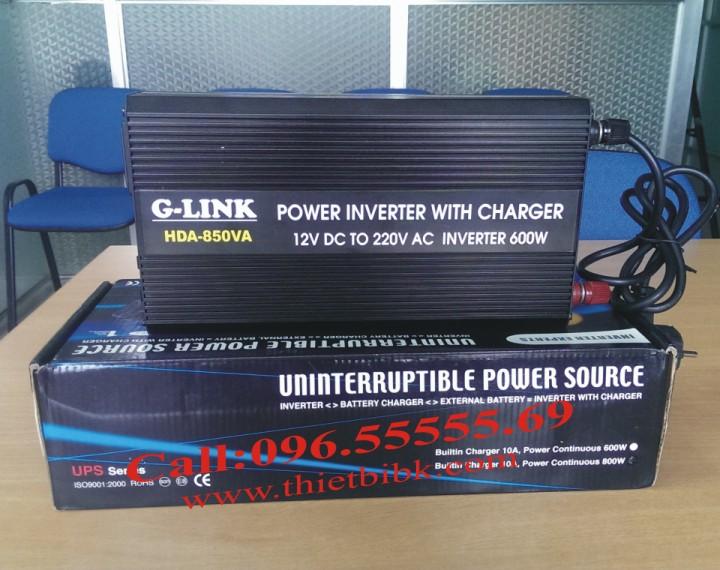 Bộ kích điện và sạc ắc quy tự động G-LINK HDA-850VA 600W dùng cho gia đình, cửa hàng, văn phòng công ty
